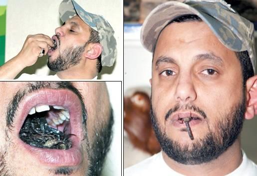 Человек с наибольшим количеством скорпионов во рту.