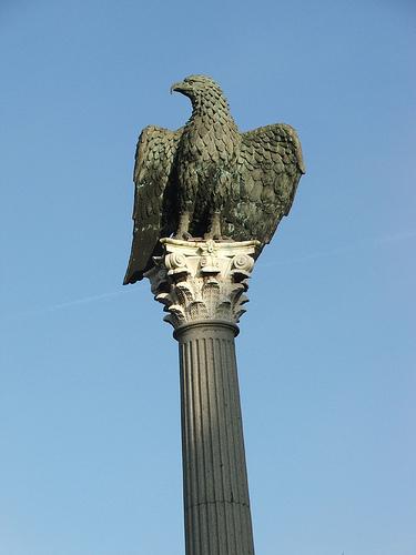 Ao longo da história, a águia sempre foi considerada um símbolo de majestade e vitória