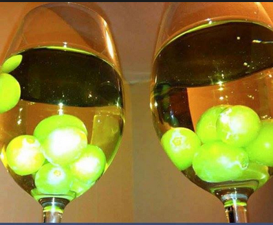 Cold white wine without ice cubes