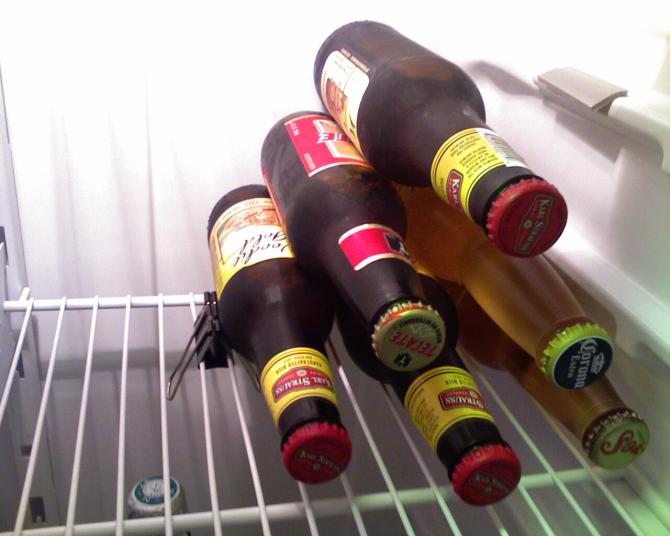 Ocupando menos espaço na geladeira