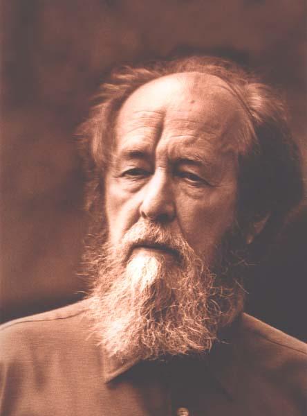 Aleksandr Solzhenitsyn.