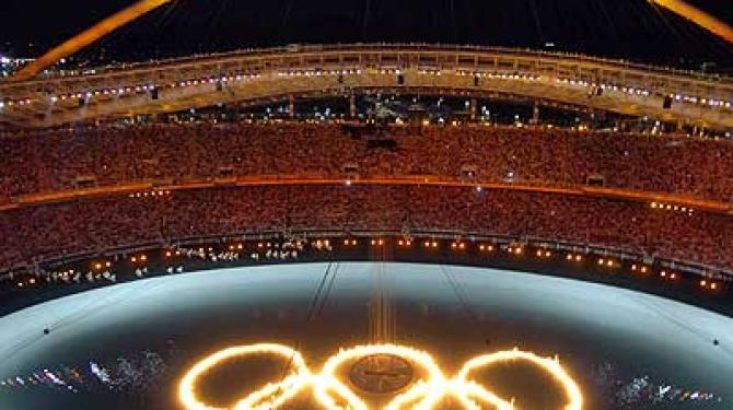 Лучшие зажигания олимпийского котла
