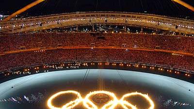 Die besten Feuer des olympischen Pebeteros