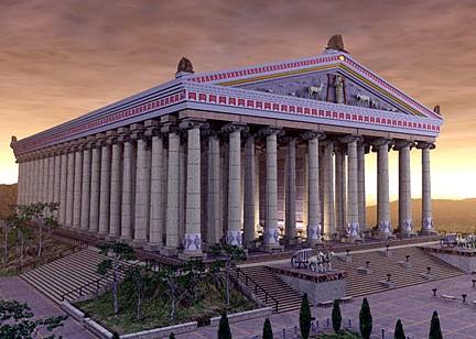 THE TEMPLE OF ARTEMISA IN EPHESUS
