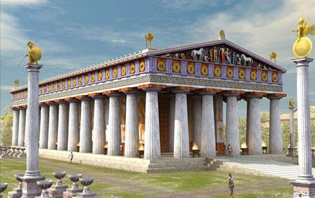 THE TEMPLE OF ZEUS IN OLIMPIA