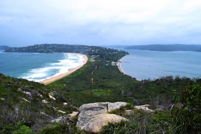 Coastal route from Sydney to Melbourne (Australia)