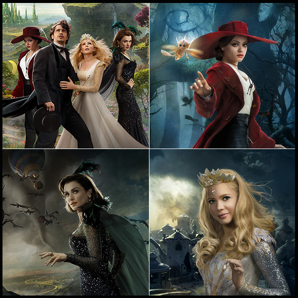 Theodora, Evanora e Glinda (Oz, O Poderoso, 2013)