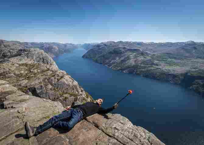 El púlpito Preikestolen - Noruega