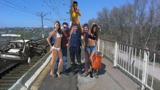 Till stranden med flickorna