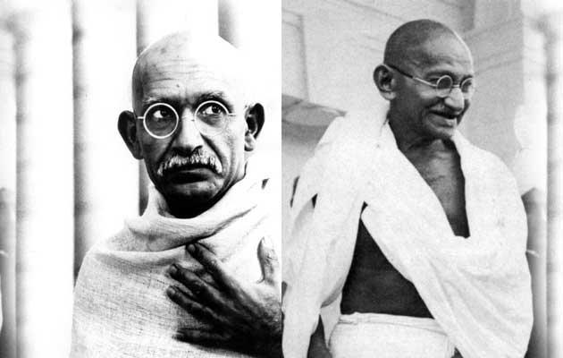 Ben Kingsley é praticamente traçado como Gandhi