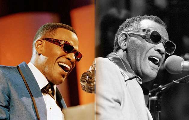 Jamie Foxx was posing as blind musician Ray Charles