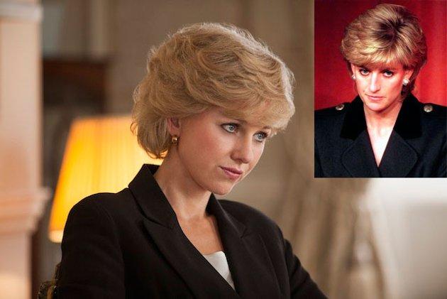 Naomi Watts characterized as Princess Diana of Wales