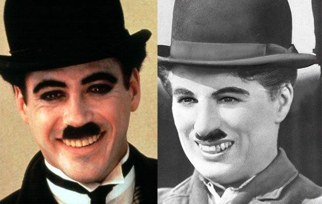 Oscar Robert Downey Jr melangkah ke sepatu Charles Chaplin