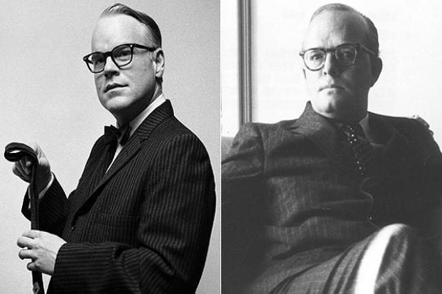 Philip Seymour Hoffman desempenhou o papel de Truman Capote