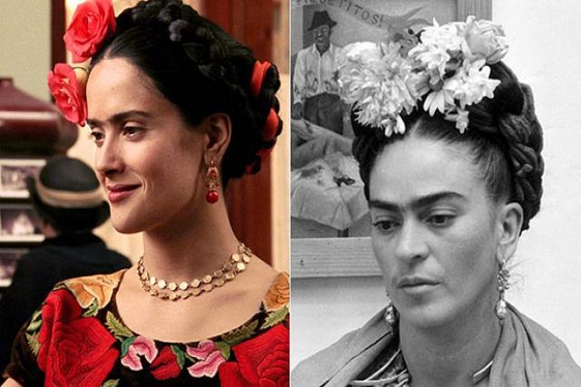 Salma Hayek berperan sebagai Frida Kahlo