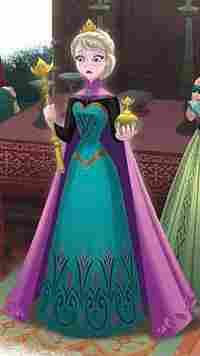 Elsa, vestido da coroação