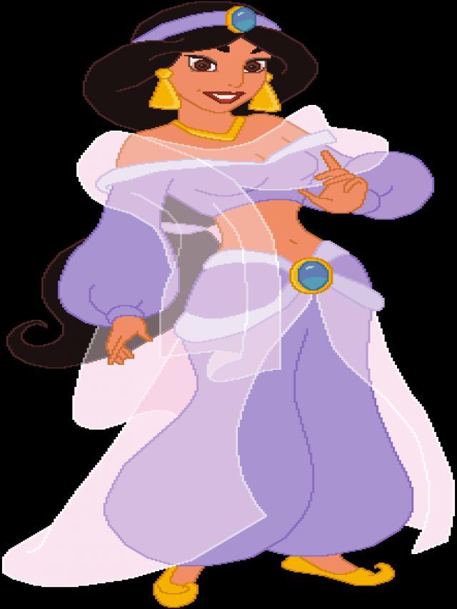 Jasmine em traje roxo (Um mundo totalmente novo)