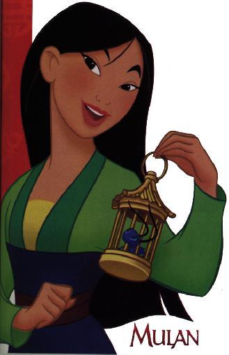 Mulan em seu vestido comum