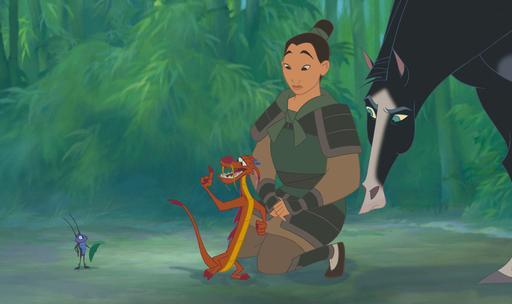 Mulan na armadura (Ping)