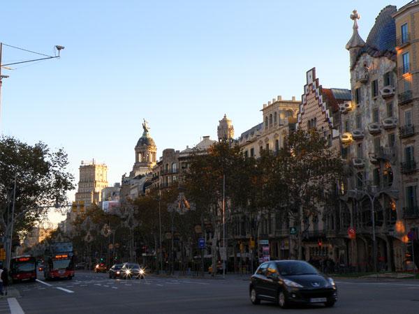 Quartiers de l'Eixample et Gracia