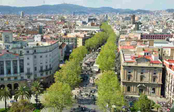 You can walk around Las Ramblas