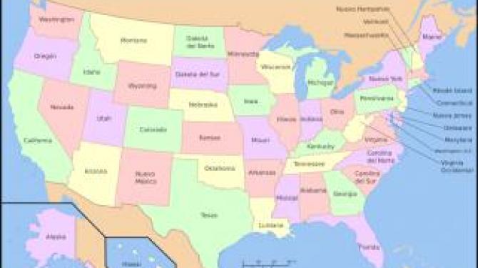 Os 50 estados dos Estados Unidos