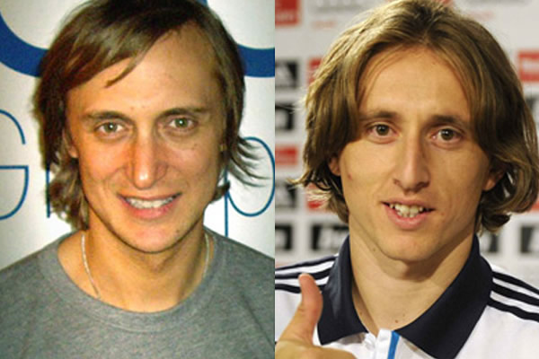 David Guetta and Luka Modric