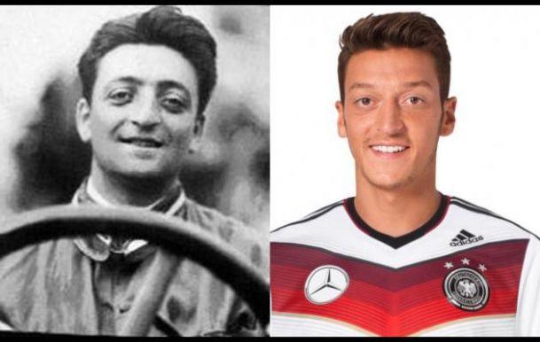 Enzo Ferrari y Özil