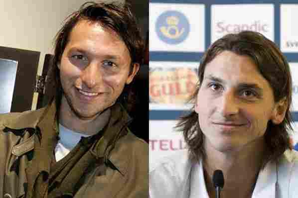 Ian Thorpe and Zlatan Ibrahimovic