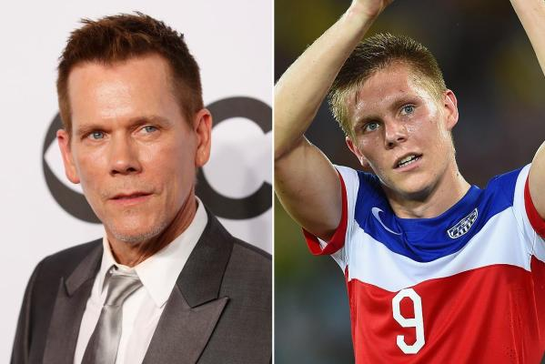 Kevin Bacon y Aron Johannsson