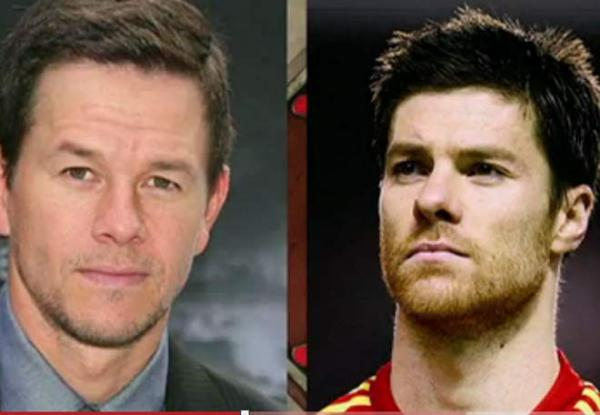 Mark Whalberg e Xabi Alonso