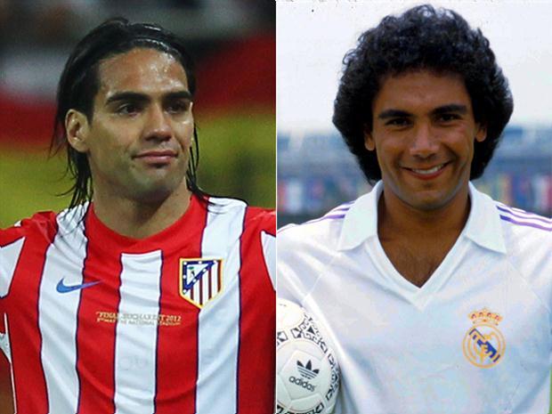 Radamel Falcao y Hugo Sánchez