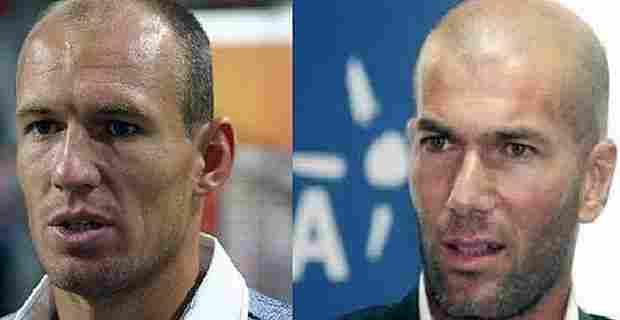 Robben y Zidane