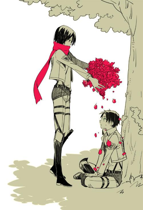 Eren e Mikasa