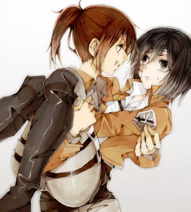 Mikasa e Sasha