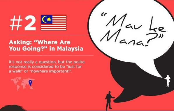 Ask 'where are you?' (if you are in Malaysia)