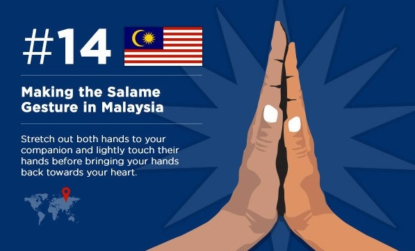 The gesture of 'salame' (Malaysia)