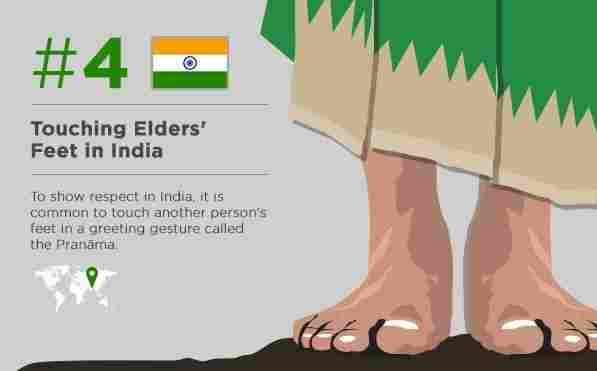 Touch the feet of an old man (if you travel to India)