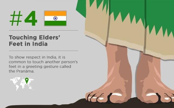 Touchez les pieds d'un vieil homme (si vous voyagez en Inde)