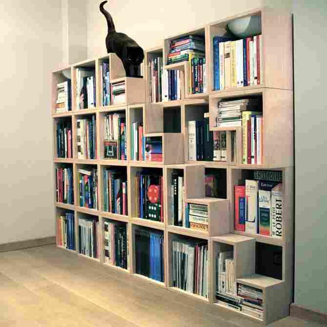 階段のある図書館