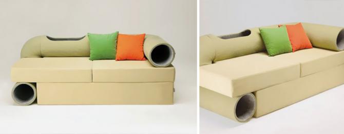 En mycket speciell soffa