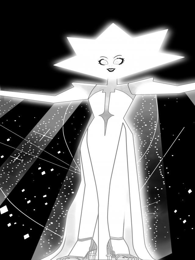 Diamante branco.