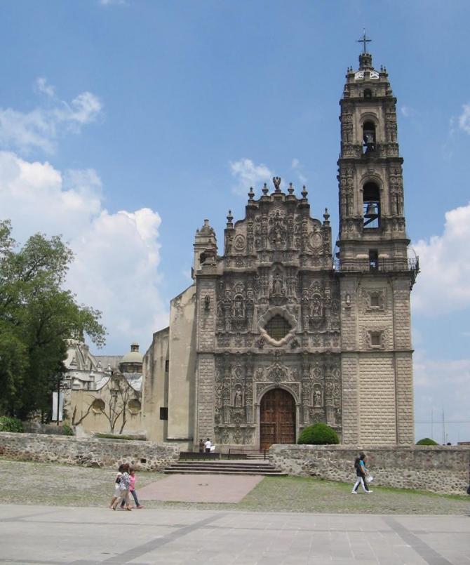 Храм Сан-Франциско - Тепоцотлан, Эдо. из Мексики.