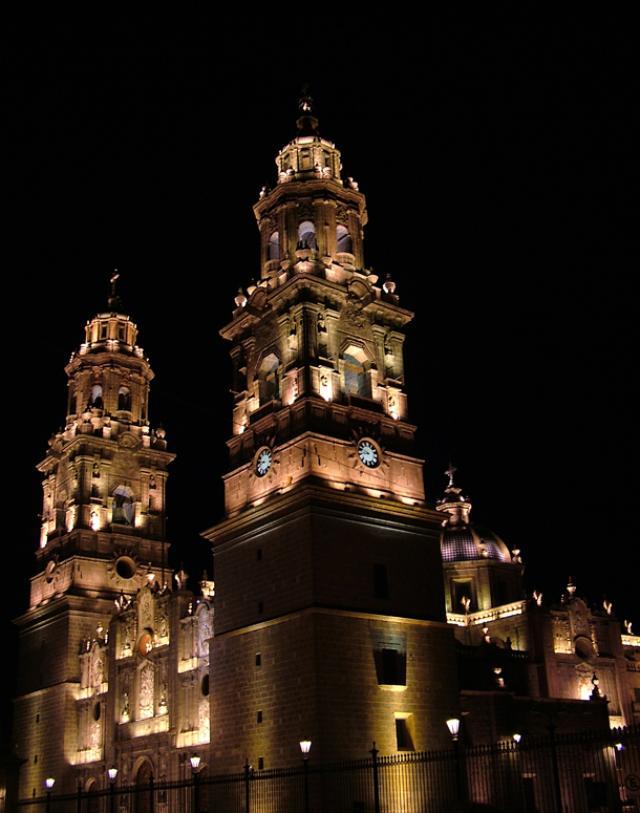 Morelia Cathedral, Michoacán, Mexico.