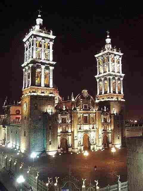 Puebla Cathedral, Puebla.