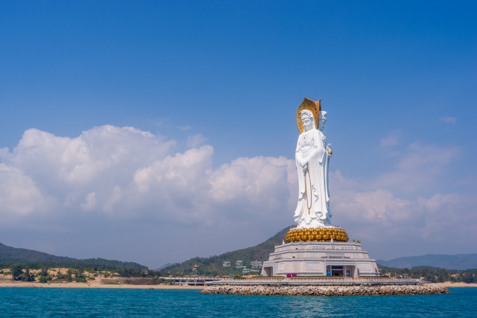 Guan Yin de la Mar de l'Sud de Sanya de la Xina - 108 metres
