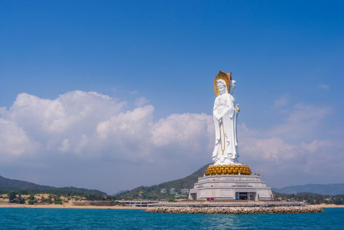 Guan Yin del Mar del Sur de Sanya de China - 108 metros