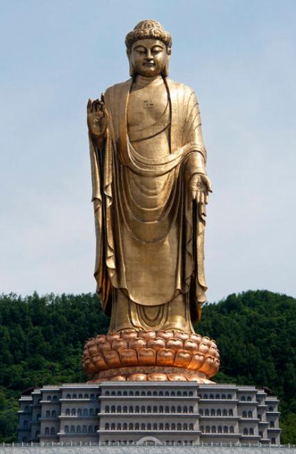 Kuil Buddha di China - 128 meter