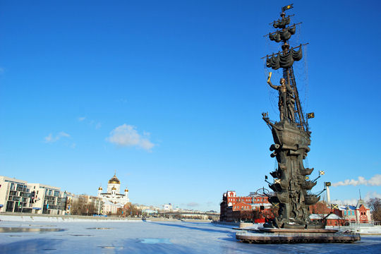 The statue of Peter the Great of Russia - 96 meters