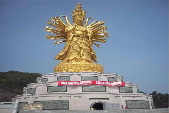 चीनको Weishan को Qianshou Qianyan Guanyin - meters 99 मीटर